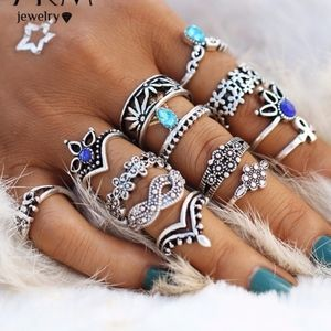 Ring SETS! All Different Styles 13pcs BOHO Vintage